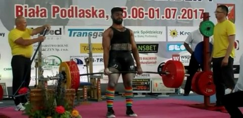 Sonny's success at the European Powerlifting Championships